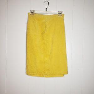 Old Navy mustard yellow corduroy skirt